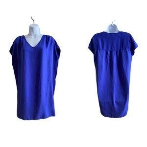 NEW! Old Navy Blue/purple vneck shirt dress S